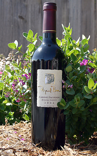Raymond Burr Vineyards 2004 Cabernet Sauvignon 750ml Wine Bottle