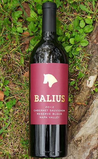 Balius Wines 2012 Reserve Block Napa Valley Cabernet Sauvignon 750ml Wine Bottle