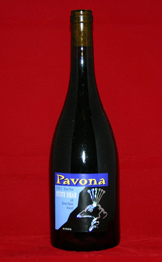 Pavona 2002 Silver Blue 750ml Wine Bottle