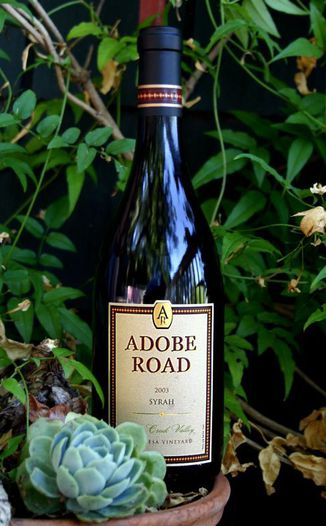Adobe Road 2003 Syrah 750ml Wine Bottle