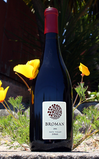 Broman Cellars 2001 Napa Valley Syrah 750ml Wine Bottle