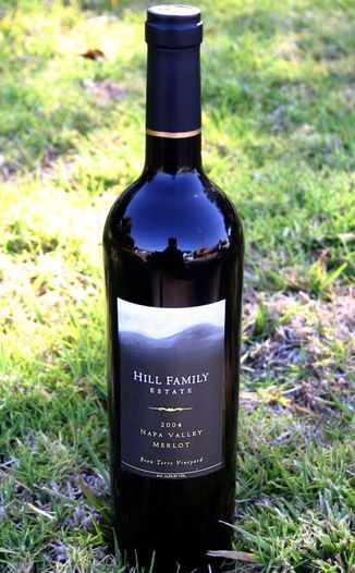 Hill Family Estate 2004 Napa Valley Merlot 750ml Wine Bottle