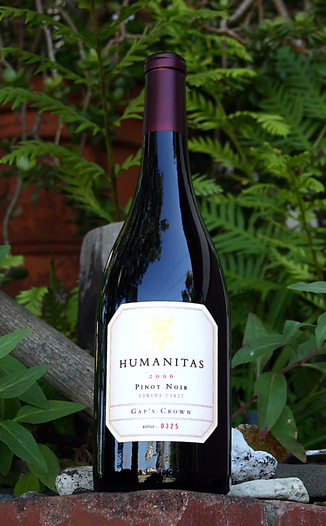 Humanitas Wines 2006 'Gap's Crown' Sonoma Coast Pinot Noir 750ml Wine Bottle