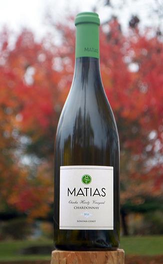 Matias 2013 Sonoma Coast Chardonnay 750ml Wine Bottle