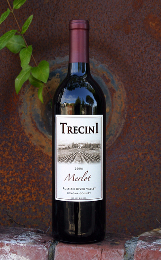 Trecini Cellars 2006 Russian River Merlot 750ml Wine Bottle