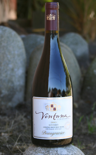 Ventana Vineyards 2003 Beaugravier 750ml Wine Bottle