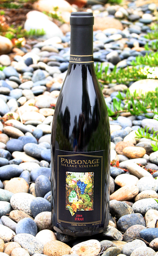Parsonage Village Vineyard 2004 Estate Syrah 750ml Wine Bottle