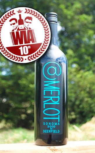 """Deerfield Ranch 2010 """"@"""" Merlot 750ml Wine Bottle"""