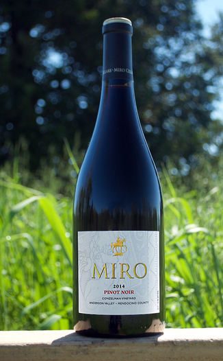 Miro Cellars 2014 Conzelman Vineyard Anderson Valley Pinot Noir 750ml Wine Bottle