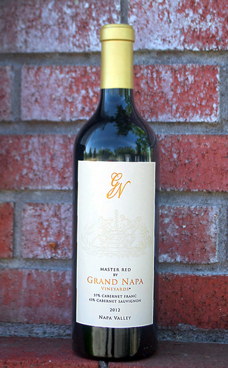 Grand Napa Wine 2012 Master Red 750ml Wine Bottle