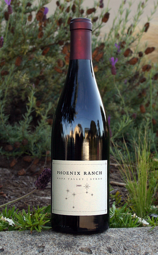 Phoenix Ranch Wines 2005 Napa Valley Syrah 750ml Wine Bottle