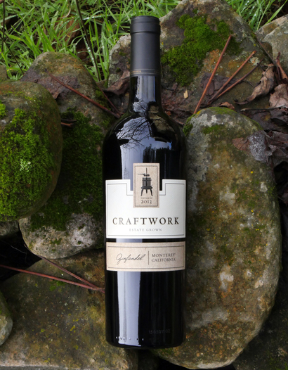 Craftwork 2013 Estate Grown Monterey Zinfandel 750ml Wine Bottle