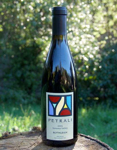 "Petrali Vineyards 2005 Sonoma Valley ""Blythleigh"" Red Wine 750ml Wine Bottle"