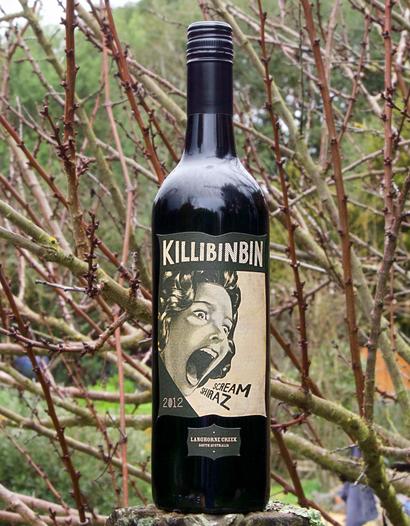 "Brothers In Arms 2012 Killibinbin Metala Vineyards ""Scream"" Shiraz 750ml Wine Bottle"