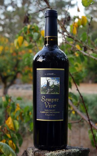 "Romeo Vineyards 2006 Sempre Vive ""Eugenia"" Napa Valley Cabernet Sauvignon 750ml Wine Bottle"