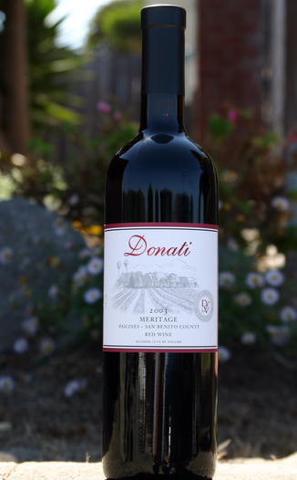 Donati Family Vineyard 2003 Meritage 750ml Wine Bottle