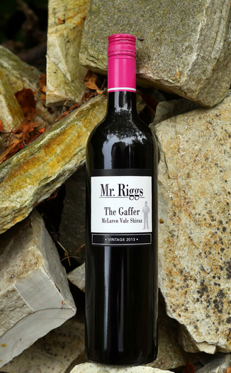 "Mr. Riggs 2013 ""The Gaffer"""" McLaren Vale Shiraz 750ml Wine Bottle"