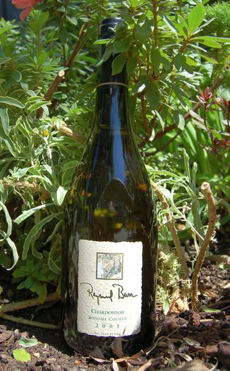 Raymond Burr Vineyards 2005 Sonoma County Chardonnay 750ml Wine Bottle