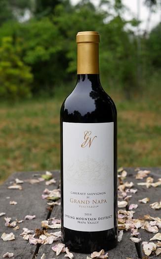 Grand Napa Wine 2014 Spring Mountain Cabernet Sauvignon 750ml Wine Bottle