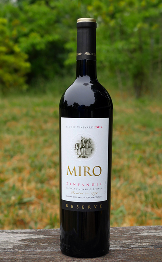 Miro Cellars 2014 Allegria Vineyard Old Vine Russian River Valley Zinfandel 750ml Wine Bottle