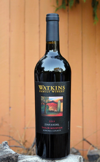 Watkins Family Winery 2013 Taylor Mountain Sonoma County Zinfandel 750ml Wine Bottle