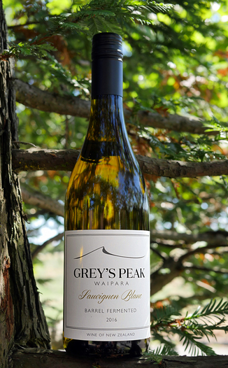 "Greystone Wines 2016 ""Grey's Peak"" Barrel Fermented Sauvignon Blanc 750ml Wine Bottle"