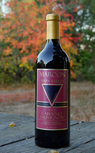 Maroon Wines 2013 Special Reserve Coombsville Cabernet Sauvignon 750ml Wine Bottle