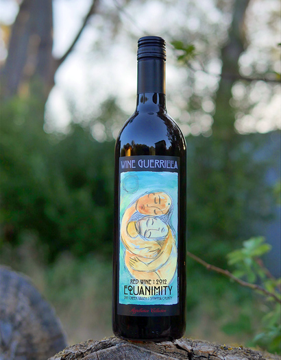 "Wine Guerrilla 2012 ""Equanimity"" Dry Creek Valley Red Wine 750ml Wine Bottle"