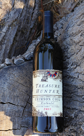 Kitfox Vineyards 2015 Treasure Hunter Crimson Coil Mendocino County Zinfandel 750ml Wine Bottle