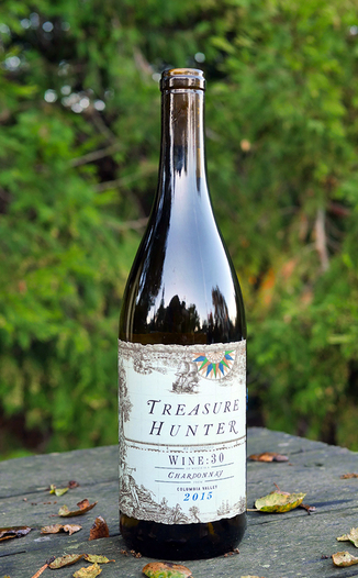 Kitfox Vineyards 2015 Treasure Hunter Columbia Valley Wine:30 Chardonnay 750ml Wine Bottle