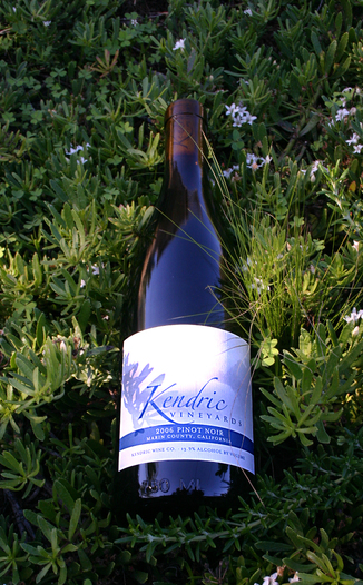 Kendric Vineyards 2006 Pinot Noir 750ml Wine Bottle