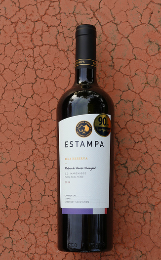 Estampa 2014 Fina Reserva D.O. Marchigüe Family Estate Carmenere Blend 750ml Wine Bottle