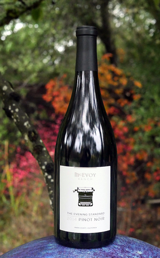 McEvoy Ranch 2014 The Evening Standard Pinot Noir Marin County California 750ml Wine Bottle