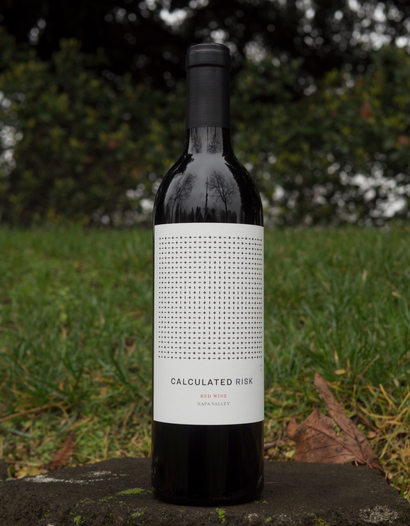 Calculated Risk 2015 Red Wine Napa Valley 750ml Wine Bottle