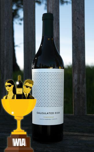Calculated Risk 2016 Santa Barbara County Chardonnay 750ml Wine Bottle
