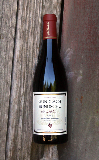 Gundlach-Bundschu Winery 2005 Estate Pinot Noir 750ml Wine Bottle