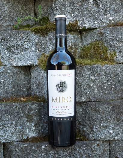 Miro Cellars 2015 Reserve Ponzo Vineyard Russian River Valley Sonoma County Old Vine Zinfandel 750ml Wine Bottle