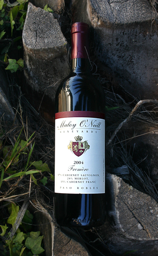 Maloy O'Neill Vineyards 2004 Fremère 750ml Wine Bottle