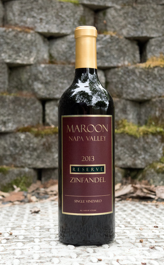 Maroon Wines 2013 Reserve Napa Valley Single Vineyard Zinfandel 750ml Wine Bottle