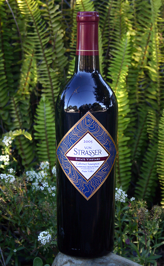 von Strasser Winery 2005 Estate Vineyard Cabernet Sauvignon 750ml Wine Bottle