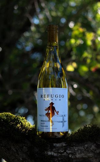 Refugio Ranch Vineyards 2016 Santa Ynez Valley Viognier 750ml Wine Bottle