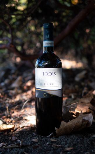 """Cautiero Azienda Agricola 2014 """"Trois"""" Sannio Greco DOC 750ml Wine Bottle"""