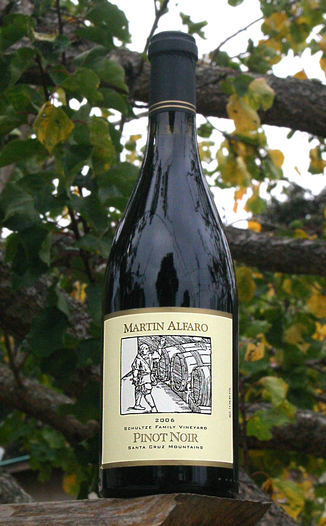 Martin Alfaro Wines 2006 Schultze Family Vineyard Pinot Noir 750ml Wine Bottle