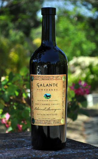 Galante Vineyards 2005 Blackjack Pasture Cabernet Sauvignon 750ml Wine Bottle