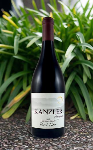 Kanzler Vineyards 2013 Sonoma Coast Pinot Noir 750ml Wine Bottle