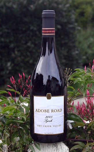 Adobe Road 2005 Dry Creek Valley Syrah 750ml Wine Bottle