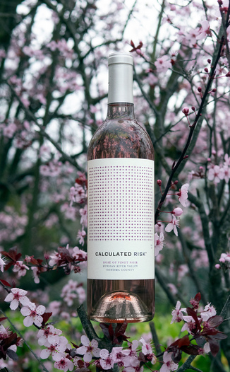 Calculated Risk 2018 Russian River Valley Sonoma County Rose of Pinot Noir 750ml Wine Bottle