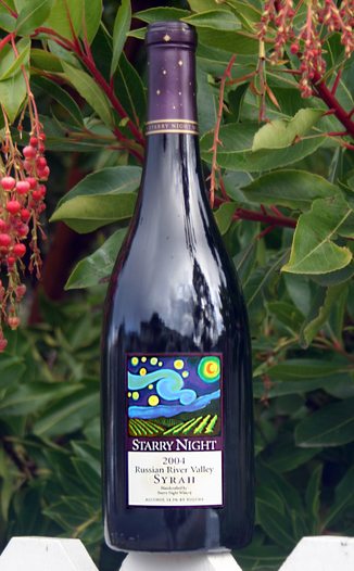 Starry Night Winery 2004 Russian River Valley Syrah 750ml Wine Bottle