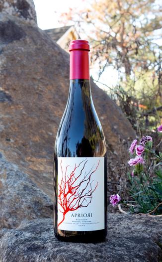 Apriori Cellar 2015 Anderson Valley Wentzel Vineyard Pinot Noir 750ml Wine Bottle