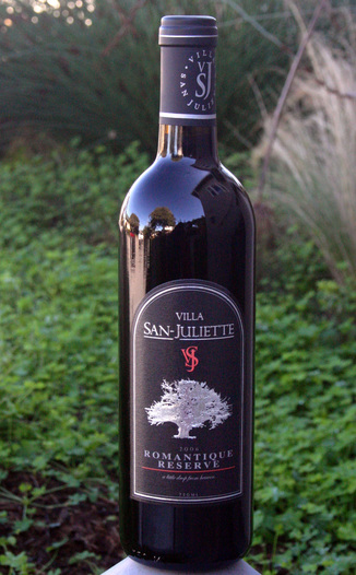 Villa San-Juliette Winery 2006 Romantique Reserve 750ml Wine Bottle